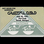 Grateful Dead 6/20/1991 Detroit Backstage Pass