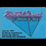 Grateful Dead 6/24/1991 Kansas City MO Backstage Pass