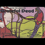 Reonegro Grateful Dead 9/26/1991 Boston Backstage Pass