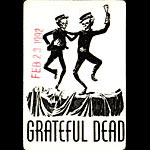 Grateful Dead 2/23/1992 Oakland Backstage Pass