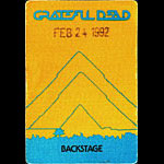 Grateful Dead 2/24/1992 Oakland Backstage Pass