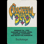 Rick Griffin Grateful Dead 2/24/1992 Oakland Backstage Pass