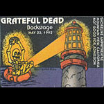 Reonegro Grateful Dead 5/23/1992 Mountain View CA Backstage Pass