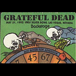 Reonegro Grateful Dead 5/31/1992 Las Vegas Backstage Pass