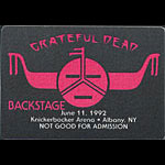 Rick Griffin Grateful Dead 6/11/1992 Albany NY Backstage Pass