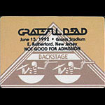 Grateful Dead 6/15/1992 NY Giants Stadium Backstage Pass
