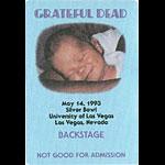 Grateful Dead 5/14/1993 Las Vegas Backstage Pass