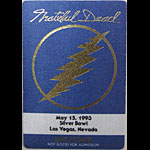 Grateful Dead 5/15/1993 Las Vegas Backstage Pass