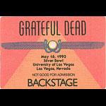 Grateful Dead 5/16/1993 Las Vegas Backstage Pass