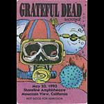 Reonegro Grateful Dead 5/23/1993 Mountain View CA Backstage Pass