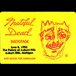 Bill Kreutzmann Grateful Dead Backstage Pass