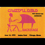 Grateful Dead 6/18/1993 Chicago Backstage Pass