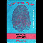 Grateful Dead 6/19/1993 Chicago Backstage Pass