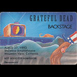 Reonegro Grateful Dead 8/27/1993 Mountain View CA Backstage Pass