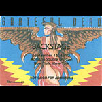 Reonegro Grateful Dead 9/16/1993 New York City Backstage Pass