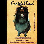 Grateful Dead 9/29/1993 Boston Backstage Pass