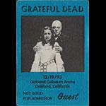 Grateful Dead 12/19/1993 Oakland Backstage Pass