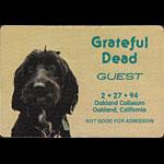 Grateful Dead 2/27/1994 Oakland Backstage Pass