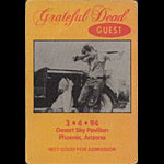 Grateful Dead 3/4/1994 Phoenix Backstage Pass