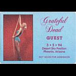 Grateful Dead 3/5/1994 Phoenix Backstage Pass