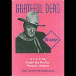 Grateful Dead 3/6/1994 Phoenix Backstage Pass