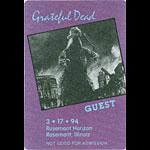 Grateful Dead 3/17/1994 Chicago Backstage Pass