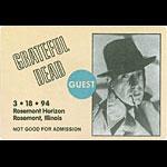 Grateful Dead 3/18/1994 Chicago Backstage Pass