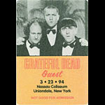 Grateful Dead 3/23/1994 Uniondale NY Backstage Pass