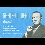 Grateful Dead 3/24/1994 Uniondale NY Backstage Pass
