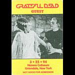 Grateful Dead 3/25/1994 Uniondale NY Backstage Pass