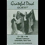 Grateful Dead 3/28/1994 Uniondale NY Backstage Pass