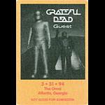 Grateful Dead 3/31/1994 Atlanta Backstage Pass