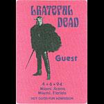 Grateful Dead 4/6/1994 Miami Backstage Pass