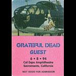 Grateful Dead 6/8/1994 Sacramento Backstage Pass