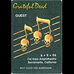Grateful Dead 6/9/1994 Sacramento Backstage Pass