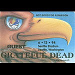 Grateful Dead 6/13/1994 Seattle Backstage Pass