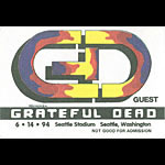 Grateful Dead 6/14/1994 Seattle Backstage Pass
