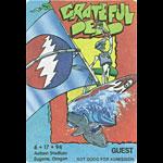 Grateful Dead 6/17/1994 Eugene OR Backstage Pass