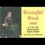 Grateful Dead 6/19/1994 Eugene OR Backstage Pass