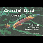 Grateful Dead 6/25/1994 Las Vegas Backstage Pass