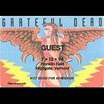 Grateful Dead 7/13/1994 Highgate VT Backstage Pass