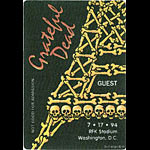 Grateful Dead 7/17/1994 Washington DC Backstage Pass