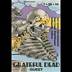 Grateful Dead 7/20/1994 Noblesville IN Backstage Pass