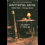 Grateful Dead 7/23/1994 Chicago Backstage Pass
