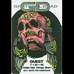 Grateful Dead 7/24/1994 Chicago Backstage Pass