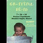 Grateful Dead 7/26/1994 St. Louis Backstage Pass