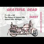 Grateful Dead 7/31/1994 Auburn Hills MI Backstage Pass