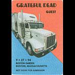 Grateful Dead 9/27/1994 Boston Backstage Pass