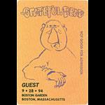 Grateful Dead 9/28/1994 Boston Backstage Pass