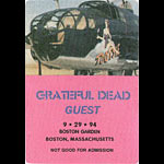 Grateful Dead 9/29/1994 Boston Backstage Pass